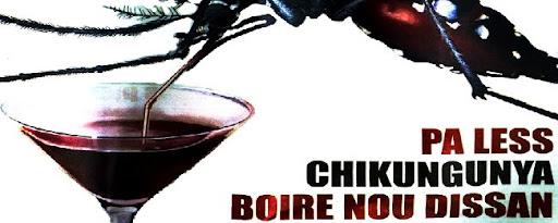 Chikunguya bebiendo