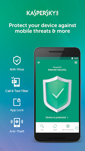 Kaspersky Mobile Antivirus: AppLock & Web Security screenshot 1