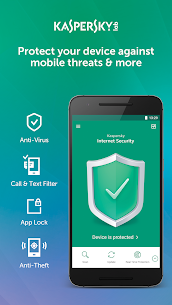 Kaspersky Mobile Antivirus: AppLock & Web Security Mod 11.19.4.834 Apk [Unlocked] 1