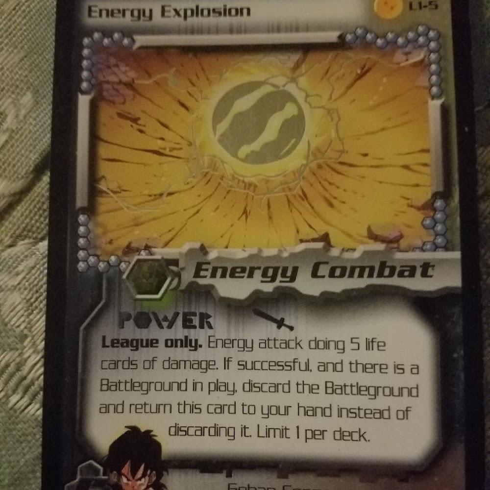 Energy Explosion League Card (Foil)