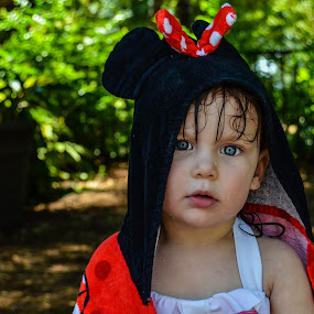 Minnie Mouse by Jessica Simmons - Babies & Children Child Portraits ( water, park, minnie mouse, daughter, blue eyes,  )