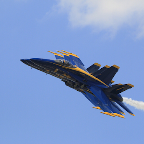 High and Tight Blue Angels by Werner Ennesser - Transportation Airplanes ( #nyairshow,  )