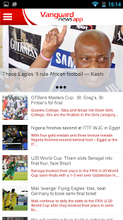 Vanguard news app- screenshot thumbnail