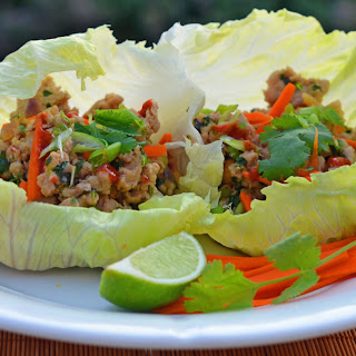 Thai Minced Chicken Lettuce Cups.