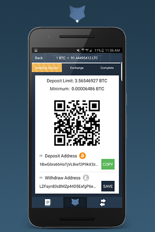 ShapeShift - Crypto Exchange- screenshot
