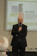 Photo: Prof. S. Gruszczyński Dziekan WGGiIŚ AGH - otwrcie Konferencji