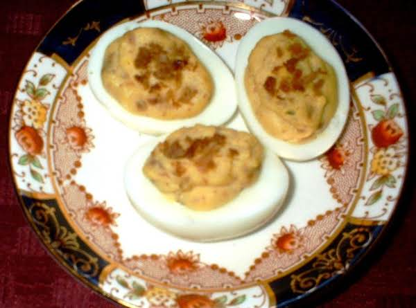 Bacon & Balsamic Deviled Eggs
