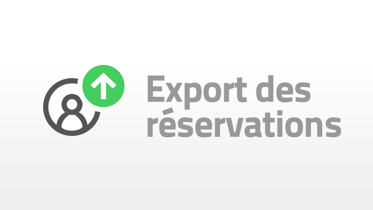 export de reservations