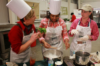 Photo: VT Agency of Agriculture Capital Cook-Off Team members (from left to right) Maria Steyaart, Shelly Saleem, and Lauren Masseria,