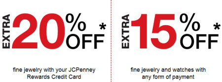 Extra 20% and 15% Off on Fine Jewelry, JCPenney Coupon Code