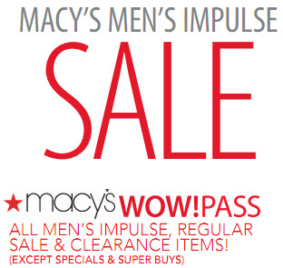 Macys coupon $20 Men's Impulse