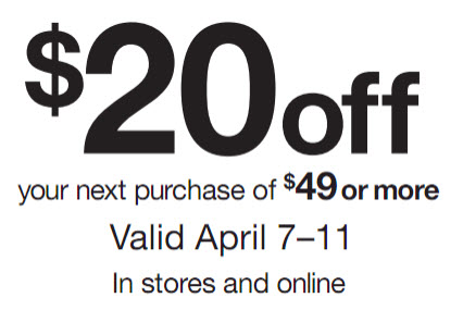 DSW coupon code April 2011 - $20 Off