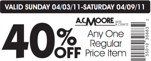 AC Moore coupon code april 2011