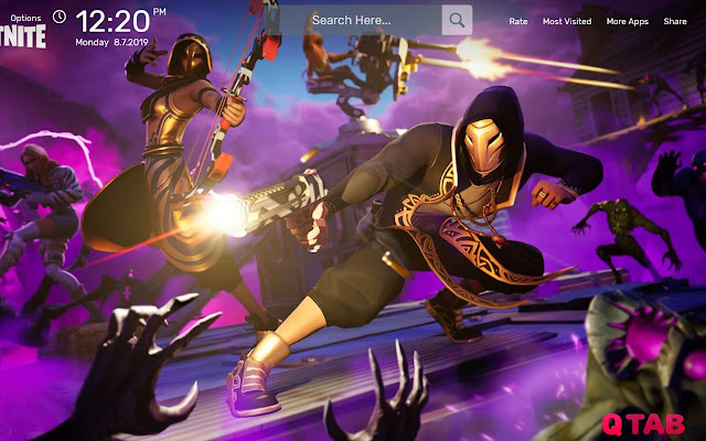 Fortnite Game Fbr Wallpapers New Tab Theme