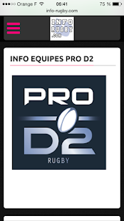 INFO RUGBY- screenshot thumbnail