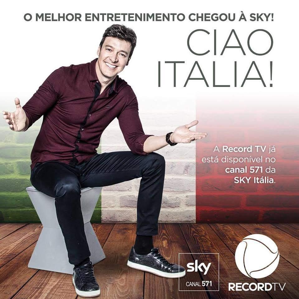 Record TV chega à Itália com sinal em HD