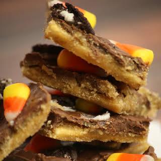 Oreo Candy Corn Saltine Cracker Toffee.