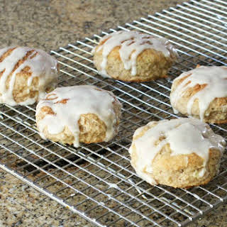 Apple Cinnamon Biscuits with Vanilla Glaze.