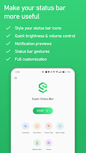 Super Status Bar - Gestures, Notifications & more