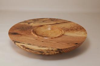 "Photo: Tim Aley 11"" x 1 3/4"" bowl [spalted oak crotch]"