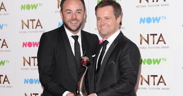 Ant and Dec win NTA again