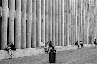 Photo: breaking it up Lincoln Center, New York City, May 2012 Fuji X-Pro 1 www.leannestaples.com #newyorkcityphotography  #blackandwhitephotography  #repetitivetuesday  #streetphotography +Arnold Goodwayfor #streetphotography  #shoot  #fujixpro1