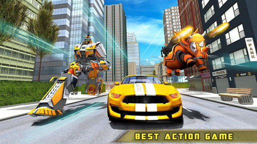 Rhino Robot Car transforming games u2013 City battle filehippodl screenshot 9