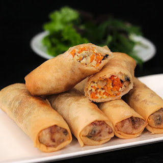 Vietnamese Vegetarian Egg Rolls.