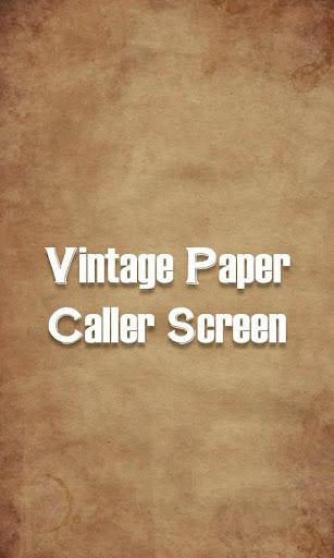 Caller Screen Paper Theme
