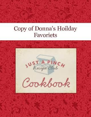 Copy of Donna's Hoilday Favoriets