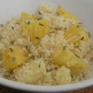 Pineapple Cilantro couscous~ great light side dish.