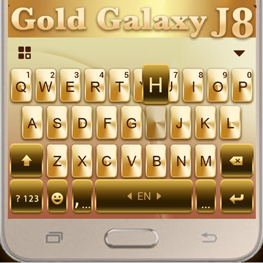 Gold Galaxy J8 Sparkle Princess Keyboard Theme (app)
