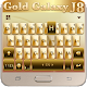 Gold Galaxy J8 Sparkle Princess Keyboard Theme (app)