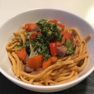 Pork & Vegetable Lo Mein.
