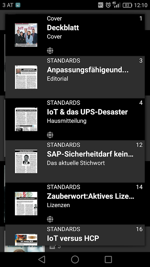 E-3 Magazin- screenshot