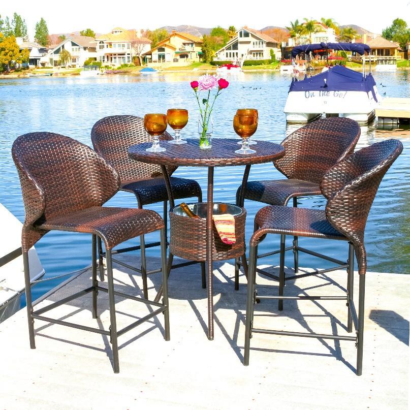 Kết quả hình ảnh cho bar height outdoor set table
