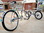 The intricately beaded bicycles that won the Beading Category of the Innibos National Craft Awards.