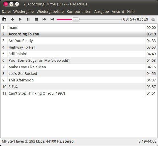 Ubuntu Linux Audioplayer Audacious