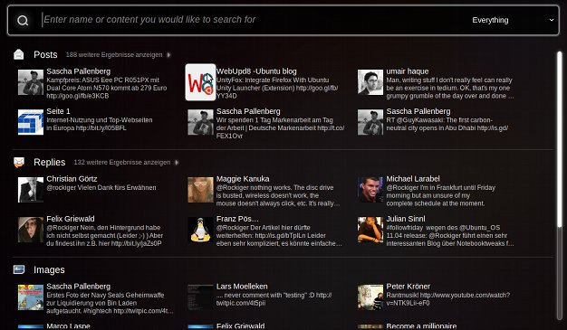 Ubuntu Twitter Lense