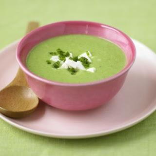 Fresh Pea Soup with Feta