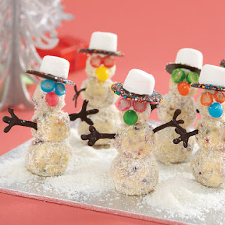 White Chocolate Truffle Snowmen