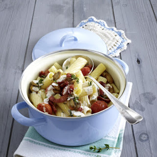 Pasta Pot with Bacon and Creamy Herb Sauce.