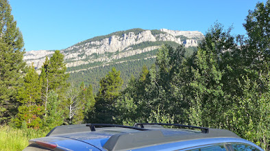 Photo: Trailhead view of Steamboat East - 70 miles from Helena (20 gravel), followed trail for 4 miles then followed ridge to top (14.5 miles round-trip with 3,300 elev. gain), started hiking at 7:30 am, got back to car at 4 pm.