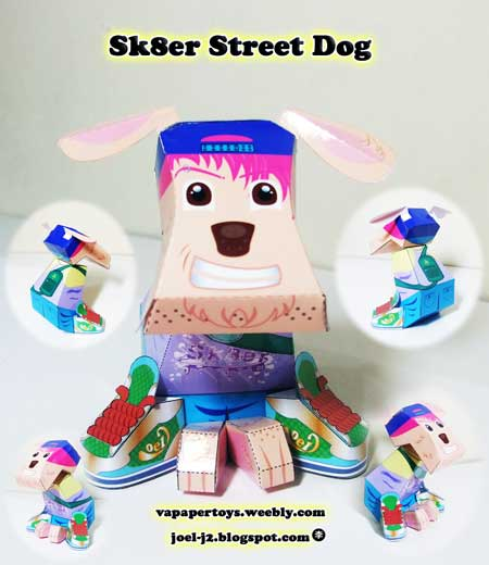 Sk8r Street Dog Paper Toy