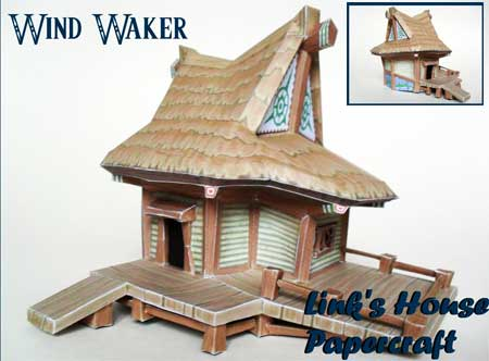 The Wind Waker Link's House Papercraft