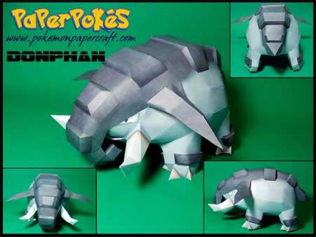 Pokemon Donphan Papercraft