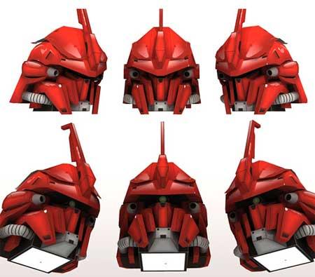Gundam Papercraft MSN-06S Sinanju