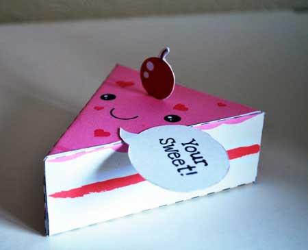 Valentine's Day Cake Papercraft