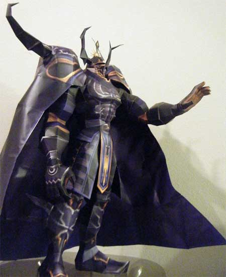 Dissidia Final Fantasy Golbez Papercraft