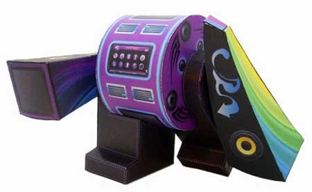 Bangin Beats Yebot Paper Toy